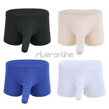 Sexy Men Lingerie Boxer Briefs Shorts Underwear Underpants Closed Penis Sheath