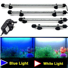 Aquarium Fish Tank Waterproof Blue White 5050 SMD LED Light Bar Lamp Submersible