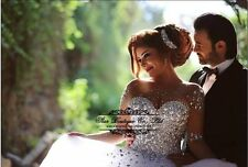 NEW white/ivory Tulle Wedding Dress Bridal Gown Custom Size4-6-8-10-12-14-16-18+