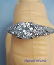 Gorgeous ornate  valentine silver plated  CZ fashion dress ring choose your size