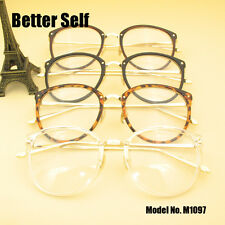 Retro Metal Women Clear Eyewear Optical Frames Spectacles Eyeglasses Optics