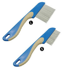 Dog Puppy Cat Flea Comb Trimmer Grooming Cleaning Hair Brush Shedding Tool