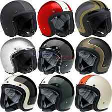 Biltwell Bonanza Helmet Open Face Scooter/Motorcycle Street Solid DOT