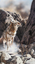 Fowl Play Judy Larson LE 2950 27x21 Paper Signed NEW Wolfs Wolves Wolf