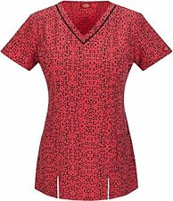 Fashion Prints by Dickies Women's V-Neck Grow on You Print Scrub Top