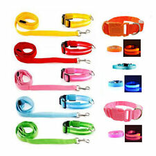 LED-Light-up-Dog-Pet-Night-Safety-Bright-Flashing-Adjustable-Nylon-Collar-Leash