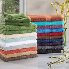Cotton Bath Towel Set of 6 Soft Absorbent Body Sheets Hand Towels & Washcloths