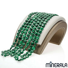 [1+1 AT 30% OFF] NATURAL GREEN MALACHITE GEMSTONE BEADS COIN SHAPE STRAND 15""