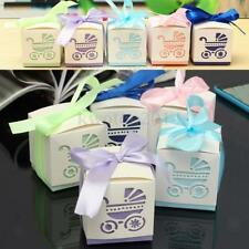12pcs Cute Baby Pram Candy Gift Boxes for Baby Shower Birthday Wedding Favor
