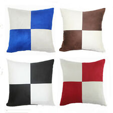 """Vintage Square Grid Suede Pillow Case Protector Cushion Cover Sofa Throw 18"""""""