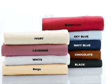 New Arrival 4 pc Sheet Set 1000TC Egyptian Cotton US Twin Size Solid Colors