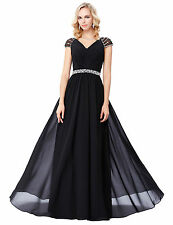 Women Chiffon Bridesmaid Ball Prom Gown Formal Evening Party Cocktail Long Dress