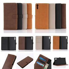 Wallet Leather Card Slot Holder Flip Folio Magnet Skin Case Cover For SONY PHONE