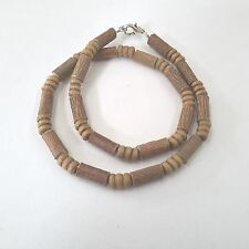 Hazelwood necklace + wood beads collier de noisetier(therapeutic)