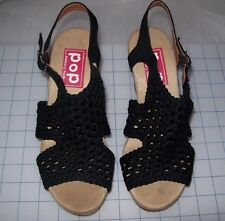 WOMEN'S POP CHER ANKLE STRAP WEDGE WITH PADDED FOOT BED SANDALS NEW IN BOX