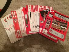 "CRAWLEY TOWN FC HOME MATCH PROGRAMMES  VARIOUS SEASONS  "" BUY 1 GET 1 FREE """