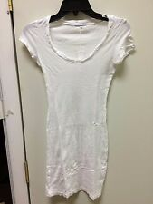 james perse long blouse t-shirt white womens short sleeve wsz6017   new sz 1