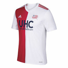 adidas New England Revolution MLS 2017 Soccer Away Jersey Brand New White - Red