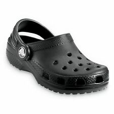 New Boys/Youth Crocs Classic Kids' Clogs Sandals Shoes Size 1, 2,  in Black