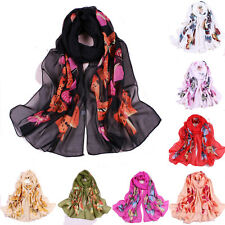 Butterfly Girls Women Long Soft Wrap Lady Shawl Silk Chiffon Scarf New Hot NEW z