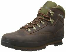 Men's Timberland Classic Leather Euro Hiker Boots Brown Distressed Leather 95100