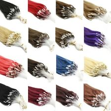 100% 7A Remy Brazilian Human Hair Extensions DIY Micro Ring Beads Loop Tip Hair