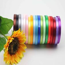 "DIY  Bow 3/8"" 5/8'' New Yards Bows Party Wedding Satin Ribbon Handicraft"