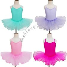 US Toddler Baby Kid Girl Gymnastics Ballet Long Sleeve Tutu Skirt Leotard Dress
