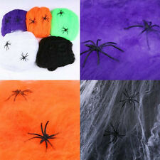 Stretchy Spider Web Cobweb With Spider for Halloween Party Decoration HOT