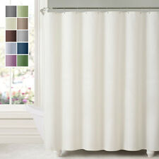 Water Repellent Shower Curtain Liner Mildew Resistant Polyester Bath Tub Liners