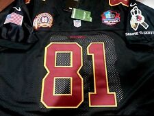 BLACK Washington Redskins #81 Art Monk Throwback dual patch stitched Camo Jersey