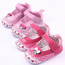 Baby Toddler Girls Minnie Dots Pram Shoes Sneaker Prewalker Trainers Crib Shoes