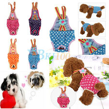 Female Pet Dog Pants Suspender Braces Menstrual Sanitary Nappy Diaper XXS-XL