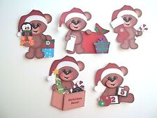3D- U Pick - XM23 Christmas Boy Girl Santa Elf Bear Card Scrapbook Embellishment