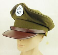 WWII CHINESE KMT OFFICER HAT CAP WWII MILITARY PEAKED CAP SIZE XL-218