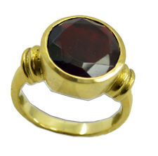 Ruby CZ Gold Plated Ring chocolate-box Red wholesale AU K,M,O,Q