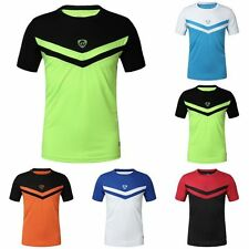Mens Sports T-shirt Fit Quick Dry Cycling Bicycle Wear Clothes Tops Tee Shirt UK