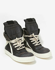 NEW Rick Owens Geobasket Laser-Cut Leather High Top Trainers RRP £965 Size 39 40