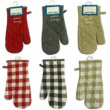 New Oven Mitt Heat Resistant Protector Kitchen Cook Pot Oven Gloves 100% Cotton