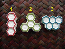 Beehive Rubber Stamps, Hand Carved, Honeycomb Designs