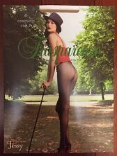 NEW Trasparenze SHEER Seamed HEEL Pantyhose/Tights -Nude/RED back SEAM  *XL*