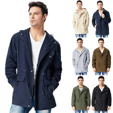NEW Men's Coat Stylish Slim Fit Hooded Jackets Outerwear Cotton WINTER Size S~XL