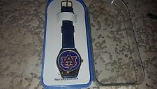 UNIVERSITY OF AUBURN ALABAMA TIGERS VINTAGE LEATHER NCAA SPORTS WATCH BY STN