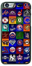Custom MLB National baseball LOGO Collage phone case cover for iPhone Samsung LG