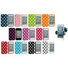 Polka Dot TPU Color Rubber Case Cover+Windshield Mount for iPhone 4 4S 4G