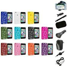 For Apple iPhone 5C Color Birds Nest Slim Hard Snap-On Case Cover+8X Accessory