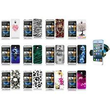 For HTC One Mini M4 Design Hard Snap-On Case Skin Cover Accessory+Car Mount