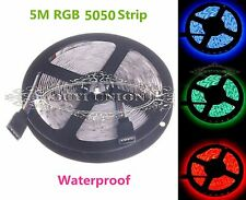 Flexible 5M/PC SMD 5050 RGB IP65 Waterproof LED Strip Light 300 LED 60LEDs/M