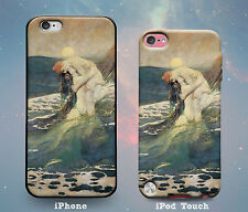 Mermaid Embrace Vintage Kiss Rubber Case for iPhone 7 6s 6 Plus SE 5s 5 5c iPod