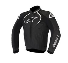New Alpinestars Jaws Black/White Leather Motorcycle Jacket (Thermal Liner)